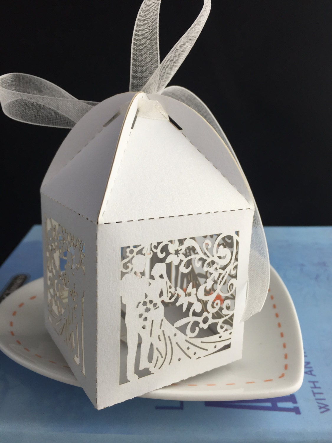 100pcs Free Shipping Laser Cutting Wedding Gift Boxes/Candy ...