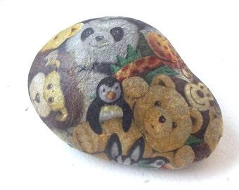 CHILD stone PAPERWEIGHT PEDIATRICIAN, teddies, stone decoupage