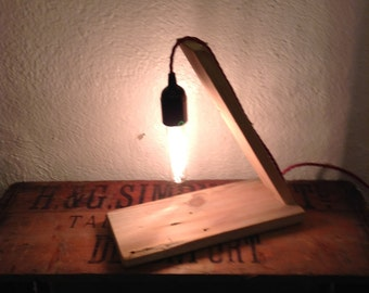 Recycled angled lamp.