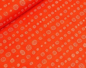 Droplet in Carrot - HALF YARD - Robert Kaufman - Cotton Fabric - Quilting Fabric
