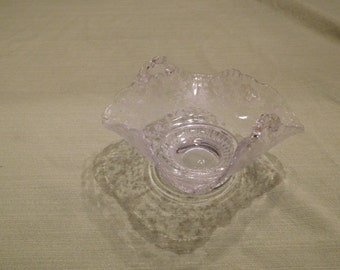 Vintage Glass Candy Dish with Handles