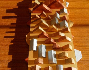 Shapes on a Plane | Wood Wall Art