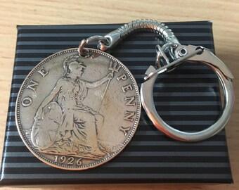 90th birthday 1926 giftPenny Coin Keyring Gift Boxed FREE UK P+P Perfect Gift Keepsake Birthday Present