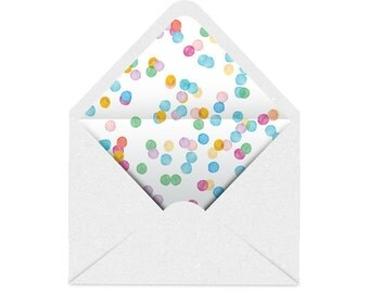 Printable Envelope Liner | Colourful Spots - Confetti | 11 Sizes | Envelope Template, DIY Wedding, Printable Invitation