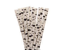 Paper Straws, Birch Tree Paper Straws, Woodland Party Supplies, Camping Party Decor, Rustic Sleepover Paper Straws, 1st Birthday Party Straw