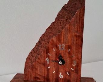 Bubinga wood clock