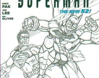 Batman/Superman #1 from DC with cover art by Brad Linder one-of-a-kind #CBC4C