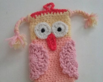 Crochet Owl Cell Phone case