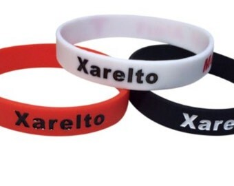 Xarelto Bracelet Silicone Medical Alert ID Blood Thinner (Set of 3) Wristband
