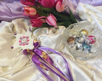 Star wand Magic Fairy wand princess Handmade Frozen inspired wood wand for birthday, tea party, pretend, photo shoot, valentines day, easter