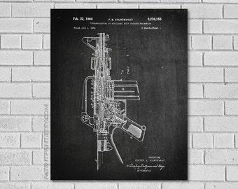 Ar 15 Patent Print  - AR 15 Art - AR 15 Decor - Gun Patent - AR 15 gun patent - Gun Blueprint-Patent Art - Print - Patent Print G155