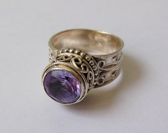 Exclusive 925 Solid Sterling Silver Ring with 100% Color Change Zendrite Custom Size 4-13 (US)