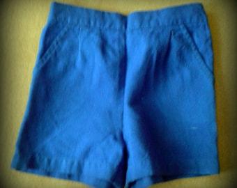 vintage ,shorts, blue,  for kids, 1980, 4 types