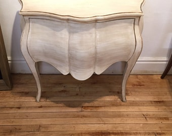 Vintage Bombe french table restored and painted shaby chic
