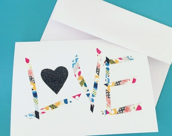Mosaic LOVE Greeting Card & Envelope