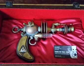 "A Steampunk Blaster-Emitter Type Ray Gun   ""The Lectro-Dynamizer"""