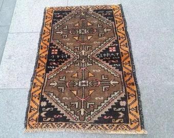 turkish rug, vintage rug, anatolian rug, hand   rug LN004