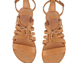 Greek leather strappy sandals