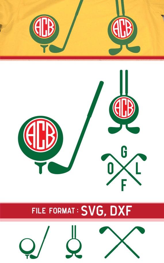Download Golf SVG Cut Files Vinyl Cutters Monogram Cricut Files