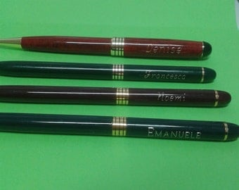 Pen personalized with engraving