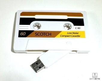 Classic Retro Design Cassette Tape Flash Drive 8GB