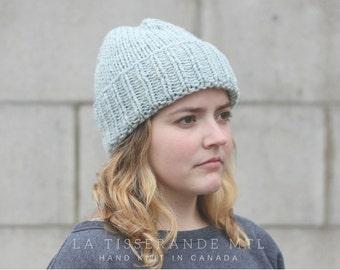 ON SALE 30% OFF- Blue knit hat, Wool beanie, knit hats women, wool beanie // The Classic Cuffed Beanie in Light blue