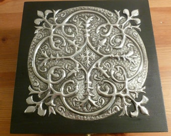 Memory Box with Vintage Pewter Detail