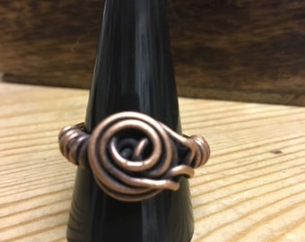 Antiqued Copper ring