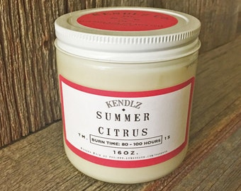 Summer Citrus - Phthalate Free Soy Candle
