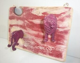 Upcycled Hangers Hooks Red Lion Storage Home Decor Eco Decor