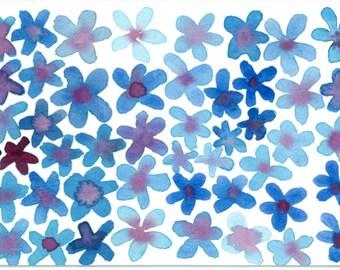 Watercolor Flowers - print