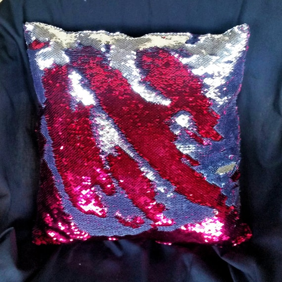 Mermaid Pillow Case Only Decorative Sequin Two Toned Color