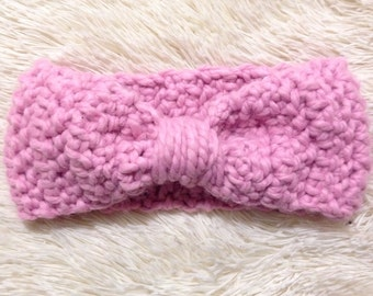 Cinched Bow Headwarmer