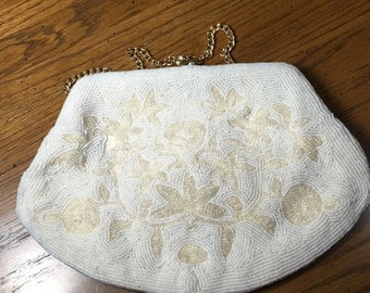 Ornate Beaded 1940's handbag by Josef