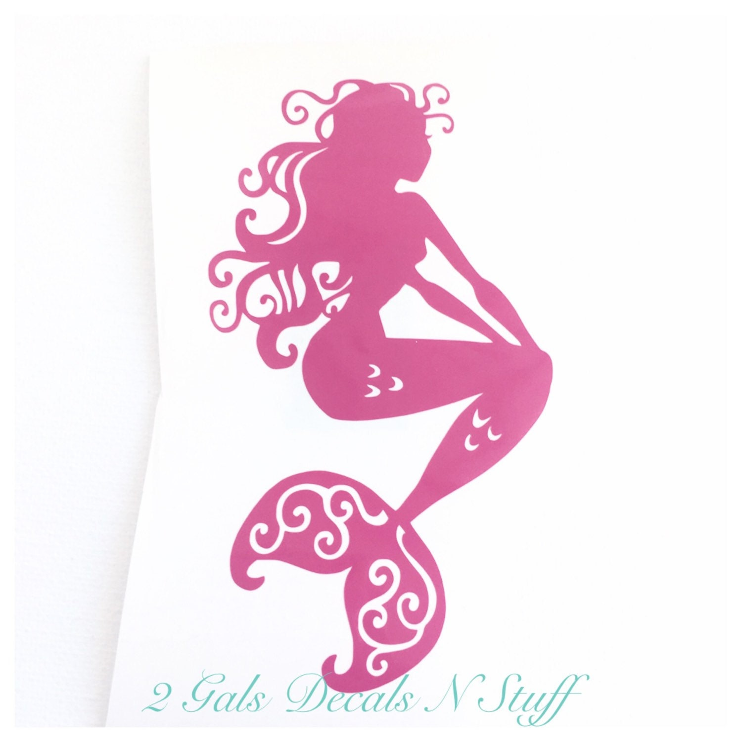Sitting Mermaid Car Decal Mermaid Car Decal Mermaid - Mermaid custom vinyl decals for car