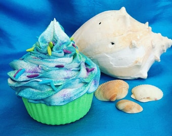 Mermaid Cupcake Bath Bomb Bath Fizzy Beach Cupcake