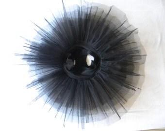 Black Practice 1/2 Tutu, showing inside gusset
