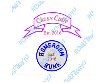 Boy, Girl, Kid Class Cutie & Homeroom Hunk designs: Silhouette Studio 3 cut file for Cameo using vinyl, HTV, paint on shirt, bag with name