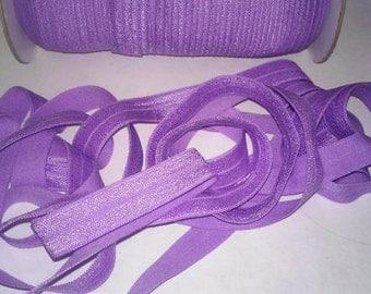 2,3 or 5. Yards FOE 5/8 Hyacinth Fold Over Elastic. Headband Supplies DIY