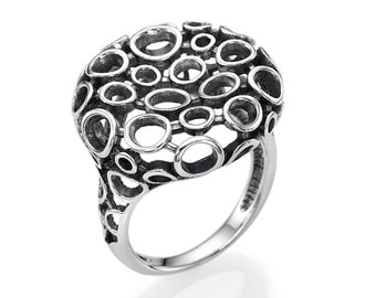 Sterling Silver Ring Bubble Addiction