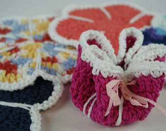 Flower Dishcloths-Soap Savers-Assorted Colors