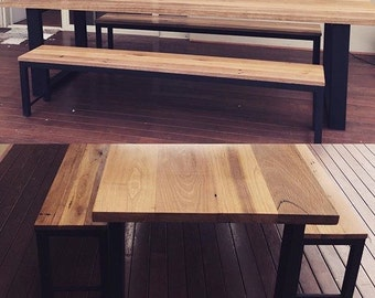 Dining table ,Messmate and Steel,handmade hardwood industrial design perfect for entertaining , industrial dining table , dining table