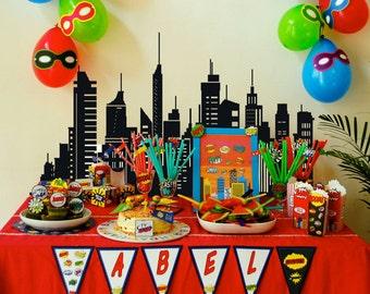 Printable Kit birthday superheroes