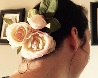 Lothlorien Flower hair barrette clip