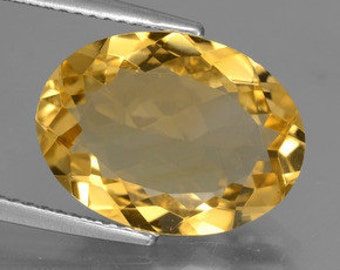 Masterpiece Collection: AAA Oval Shape Genuine Faceted Citrine  (5x3-16x12mm). 810-451