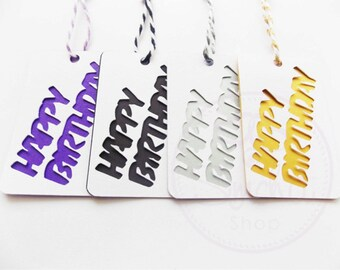 4 Happy Birthday Gift Tags
