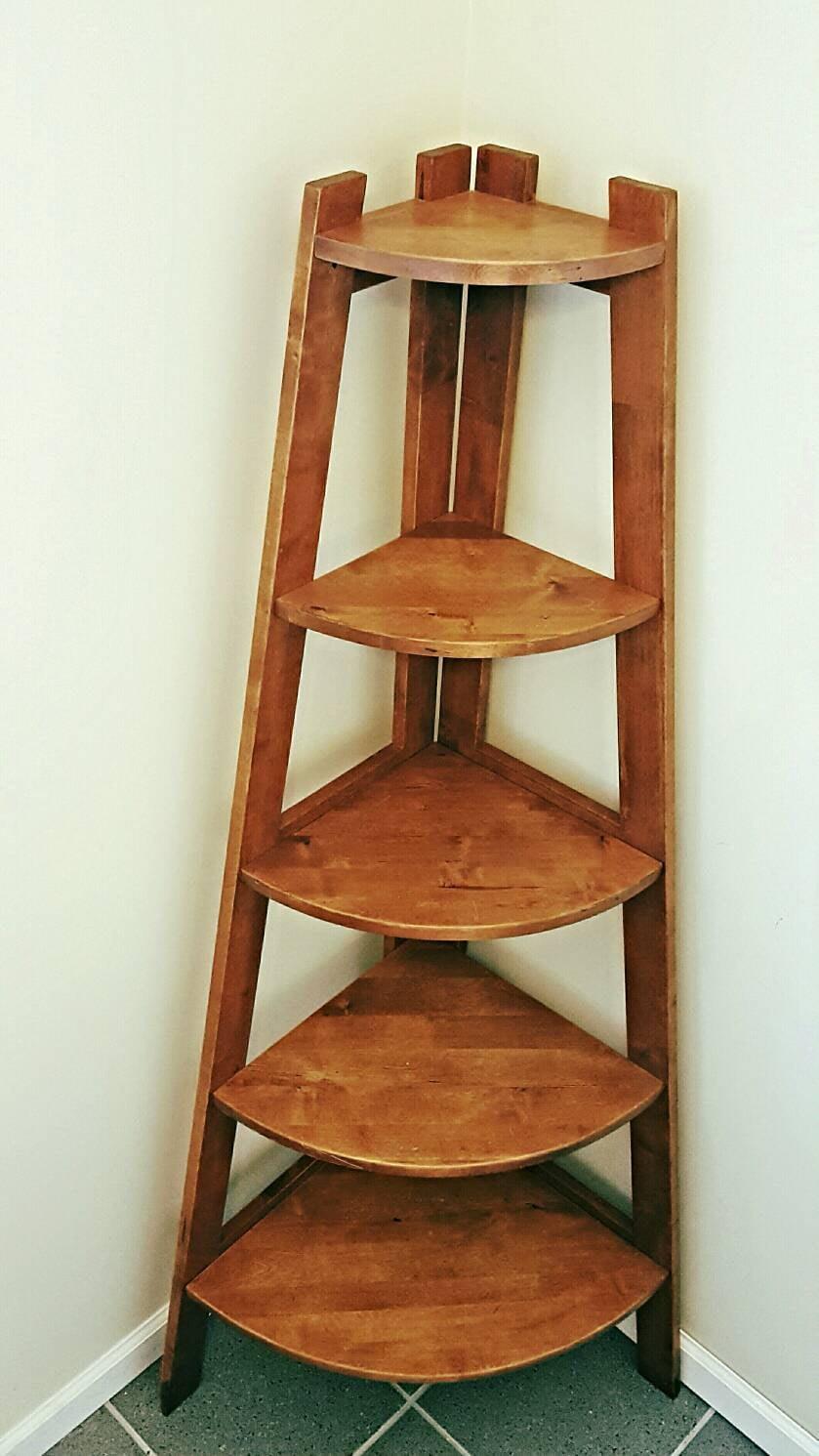 5-Shelf Corner Ladder Bookcase - White – Casual Home |Corner Ladder Bookshelf