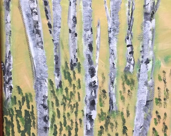 Small birches