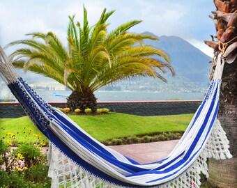 Jeronimo hammock, boho, tradional, nautical hammock, hand woven, outdoors hammock, double hammock, luxury craft