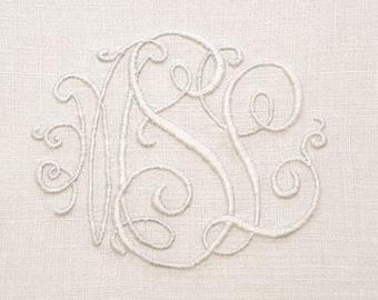 Monogrammed Linen Tea Cozy -- Vintage Hand Embroidered Linen Tea Cozy, Monogrammed MSL with Lace, Excellent Condition